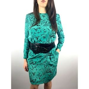 Vintage turquoise green dress by BOBBY'S GIRL
